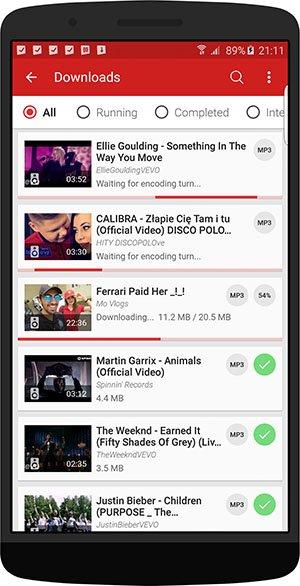 Videoder - YouTube downloader and mp3 converter app Latest